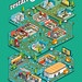 Electronics Utopia Poster: The Restart Project - isometric infographic poster illustration by Rod Hunt
