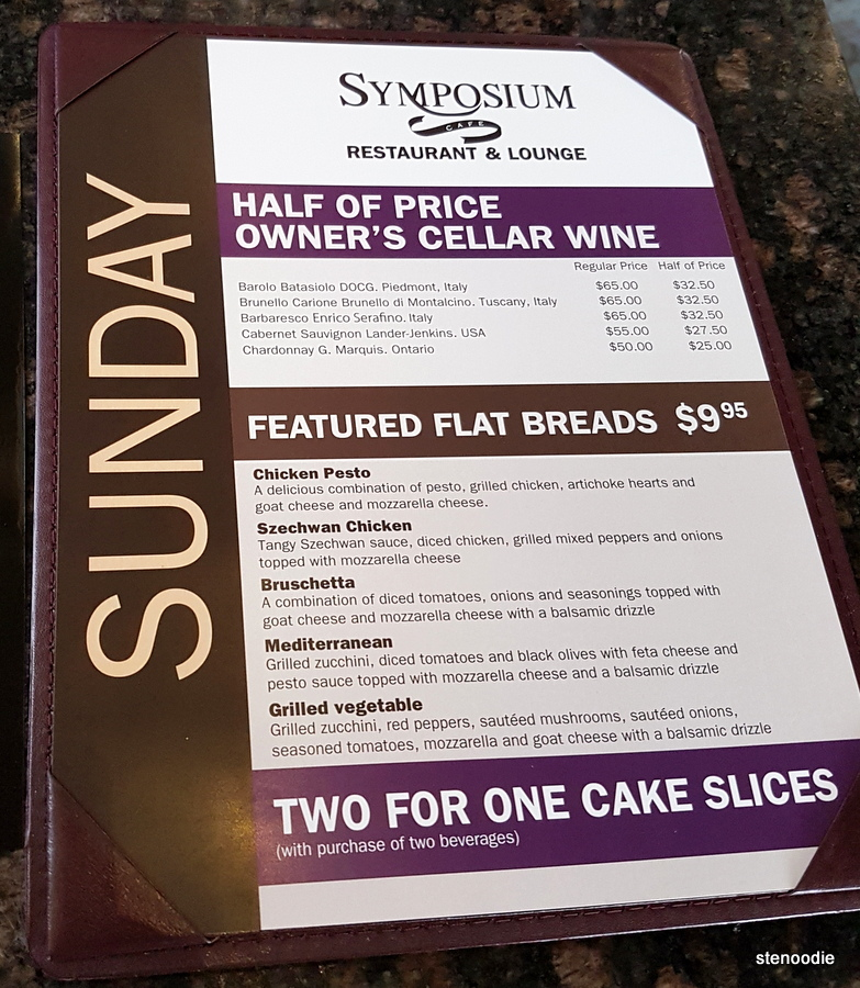 Symposium Cafe Sunday cake special