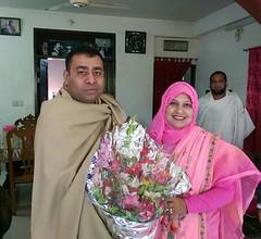 মহিলা এমপি সেলিনা বেগমের সাথে শুভেচ্ছা বিনিময়