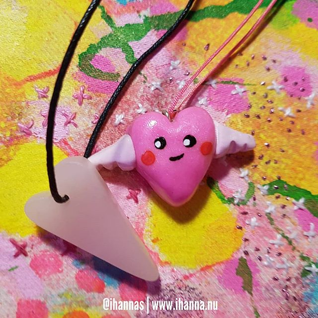 The winged clay heart made by iHanna