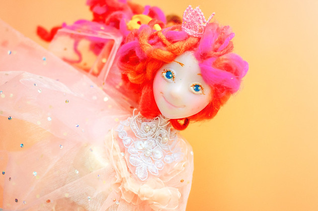 OOAK Art doll handmade  fairy Valentines gift for kids Fantasy elf and pixie