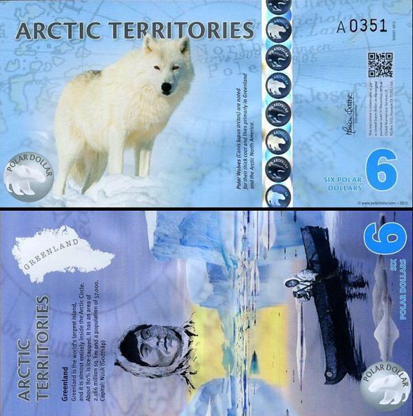 6 Polárnych dolárov Arktída 2013, polymer