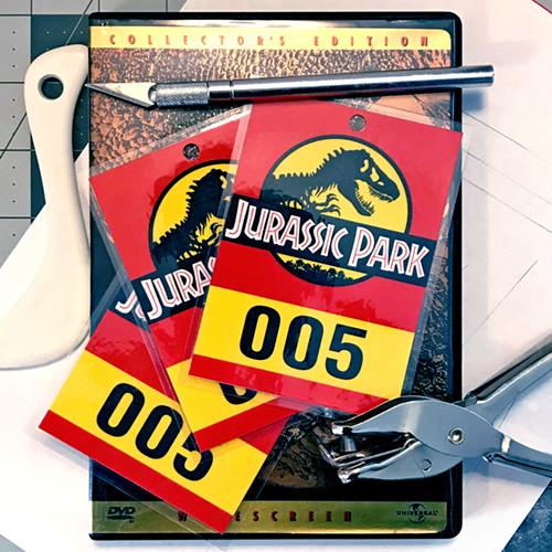Replica Jurassic Park Vehicle Hang-tags
