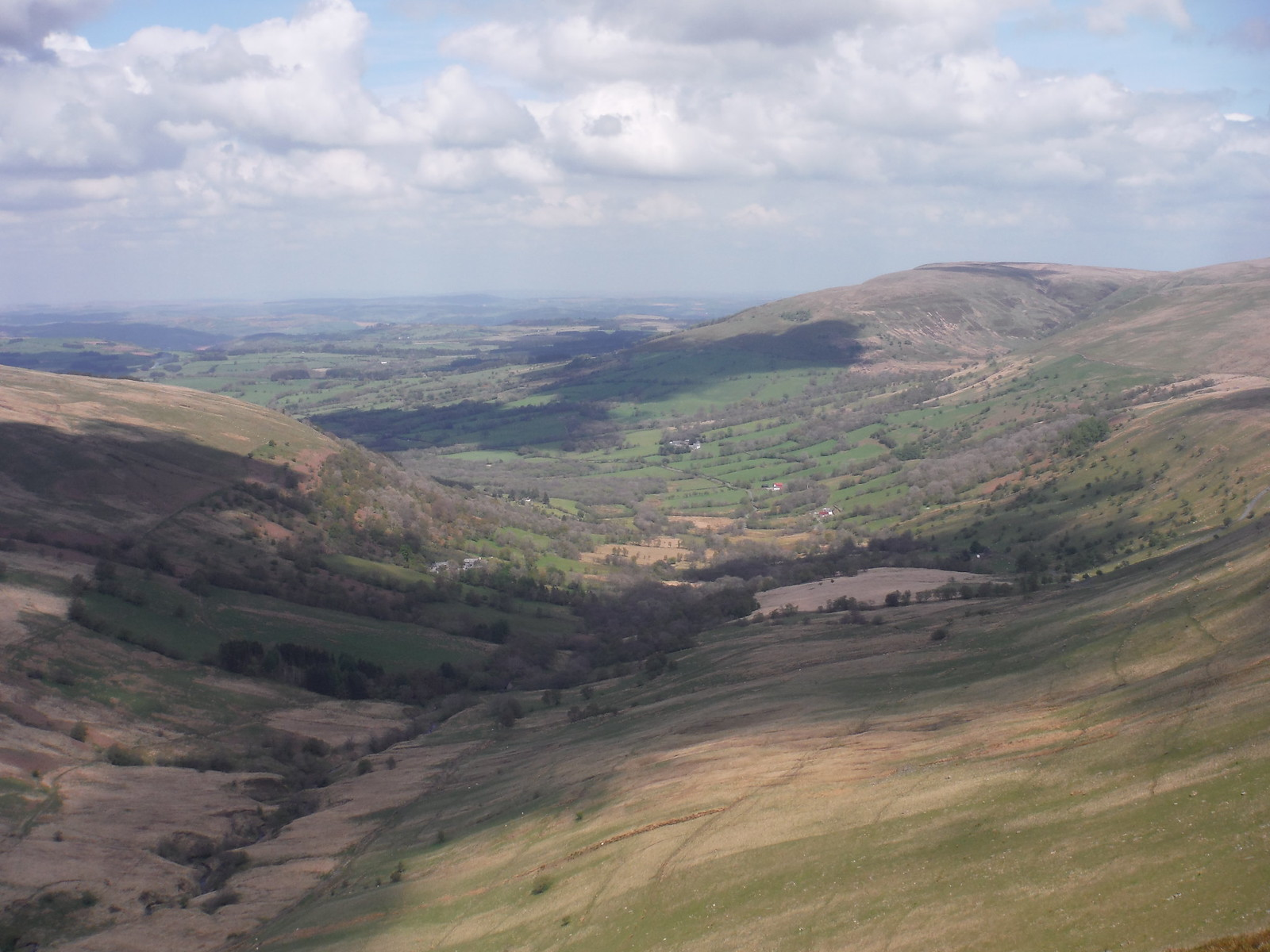 View from Fan Nedd Ascent SWC Walk 307 - Fforest Fawr Traverse (Craig y Nos to Llwyn-y-celyn)
