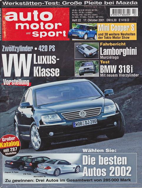 auto motor und sport 22/2001