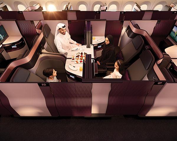 Qatar Airways QSuite medio (Qatar Airways)
