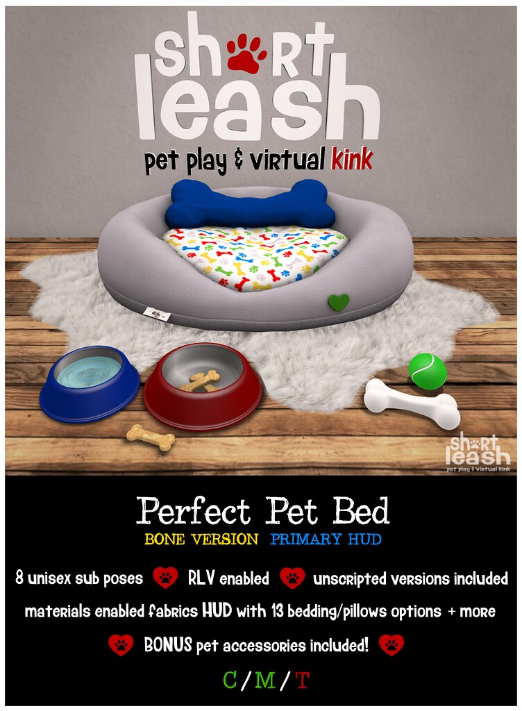 .:Short Leash:. Perfect Pet Bed - Bone Version - TeleportHub.com Live!