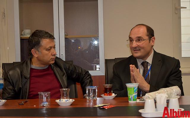 AGC Başkanı Mehmet Ali Dim, Alaaddin Keykubat Üniversitesi (ALKÜ) Eğitim ve Araştırma Hastanesi Başhekimi Prof Dr. Bülent Adil Taşbaş