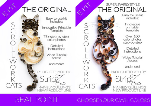 Two-Pack Quilled Cats e-Kit by Mainely Quilling