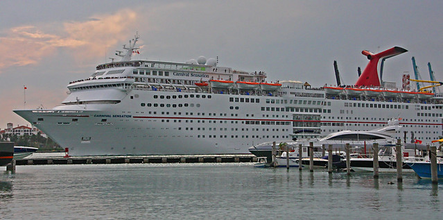 Cruise Ship, Carnival Sensation, Leaving the Port Of Miami (3 of 4)