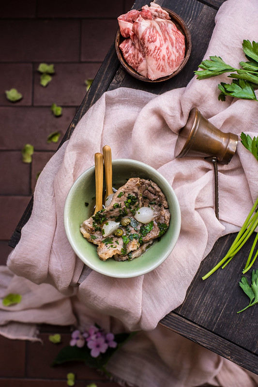 Bistecche di manzo Wagyu marinate