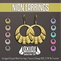 OXIDE Nion Earrings - Subscriber Gift