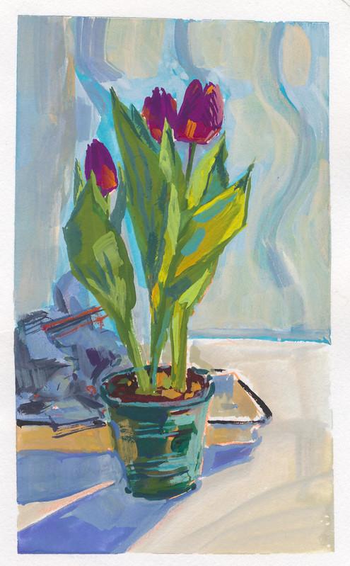 Sketchbook #111: Gouache Tulips