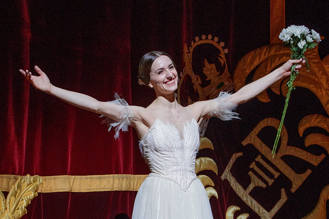 Marianela Nuñez during her 20th anniversary curtain call, 2018