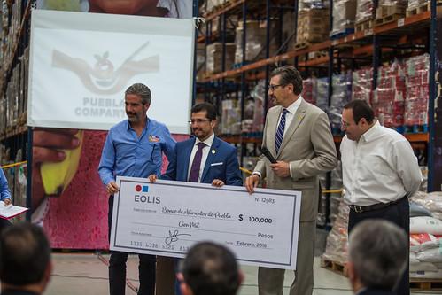 EOLIS colabora con Cruz Roja y el Banco de Alimentos en apoyo a los damnificados por los terremotos de Puebla (Méjico)