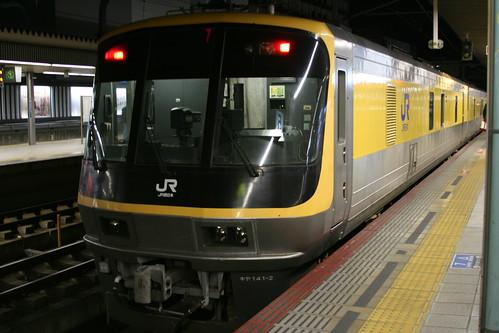 JR West kiya141 series in Himeji.Sta, Himeji, Hyogo, Japan /Dec 30, 2017