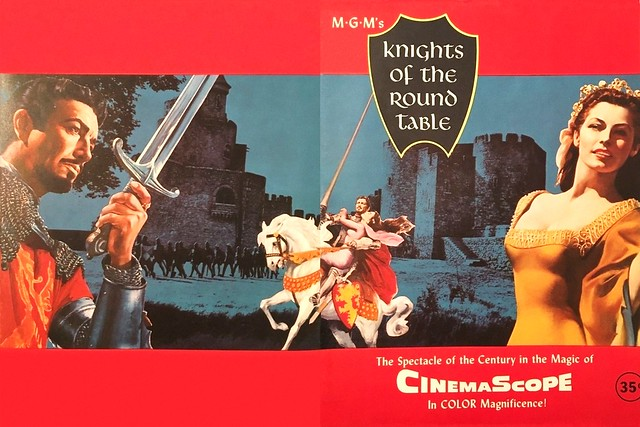 Knights of the Round Table (1954 / Metro-Goldwyn-Mayer) front & back covers