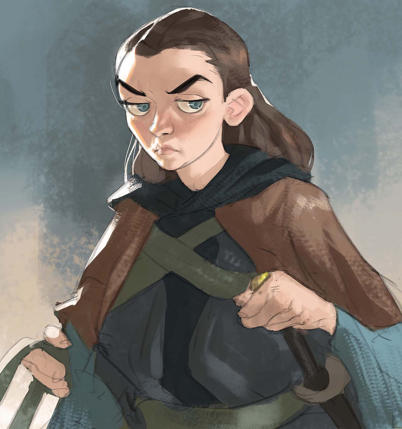 Artist Creates Unique Character Arts From Game Of Thrones – Arya Stark Character Art By Ramón Nuñez