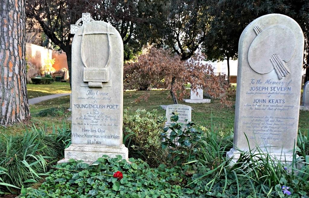 John Keatsin ja hänen ystävänsä hautakivet