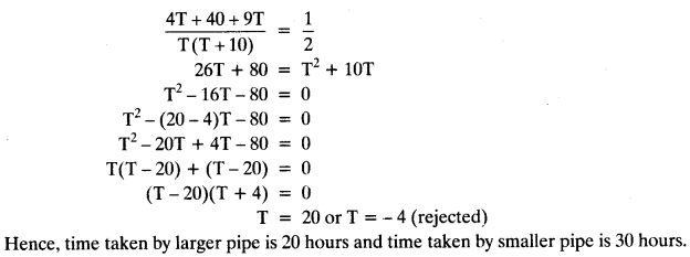 Quadratic Equations Chapter Wise Important Questions Class 10 Mathematics 46a