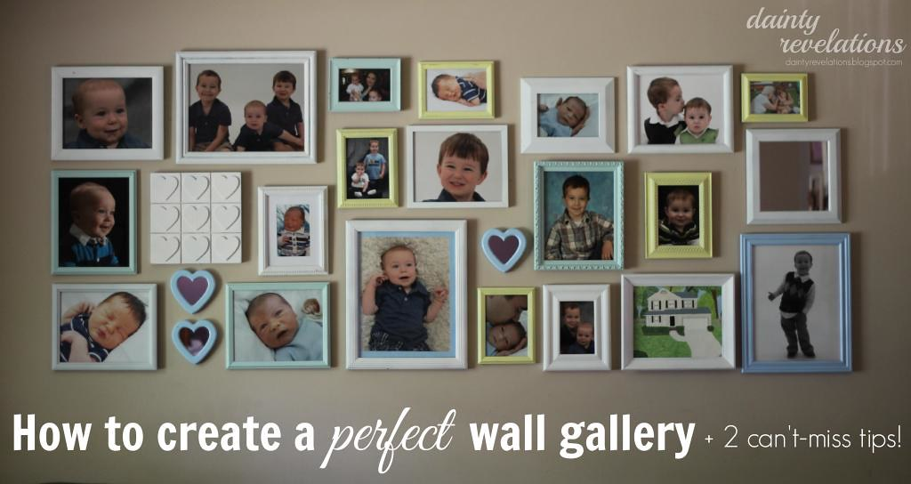 How to put an amazing wall gallery together with two can't miss tips! | www.enrychment.com