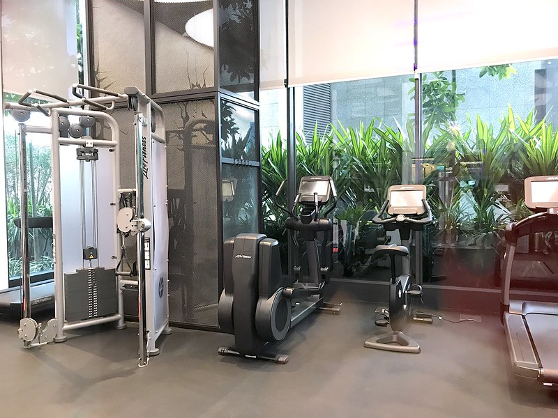 The gym at Yotel Singapore