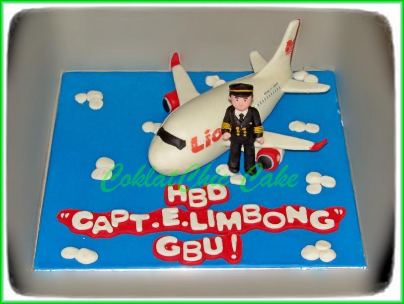 Cake Lion Air CAPT.E.LIMBONG 15 cm
