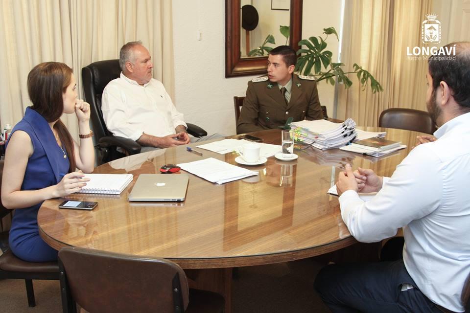 LONGAVÍ; Alcalde se Reúne con Nuevo Jefe de la Subcomisaria de Carabineros