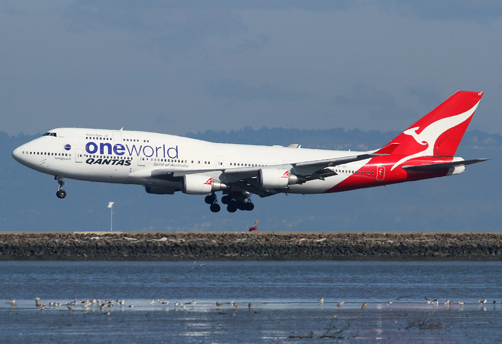 Short final for RWY28R inbound from Sydney SYD. Delivered 10/2002.