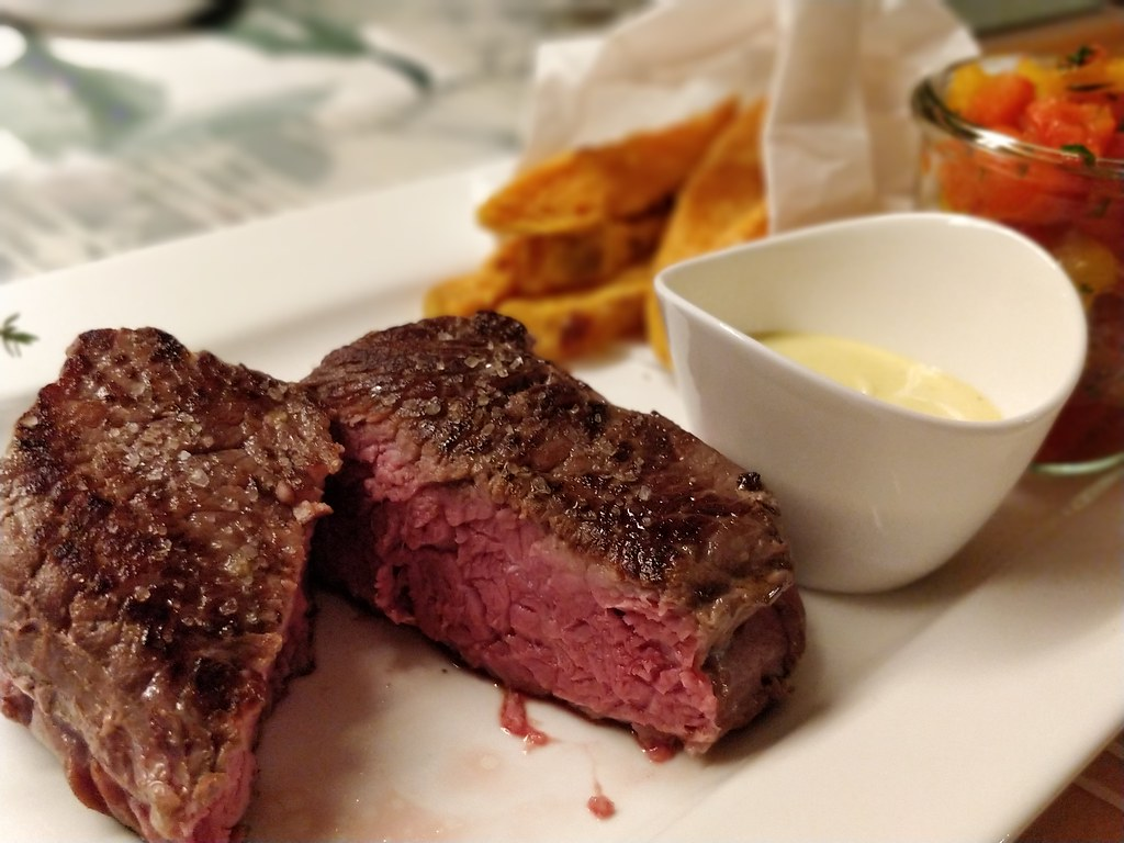 Steak | Paprika | Süßkartoffel | Knoblauch