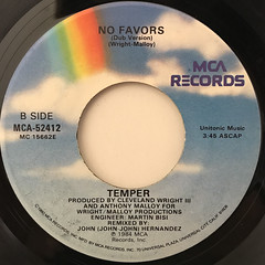 TEMPER:NO FAVORS(LABEL SIDE-B)
