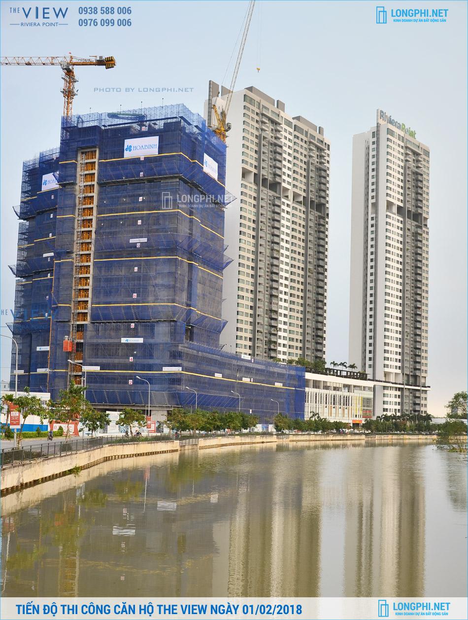 Cập nhật tiến độ thi công dự án căn hộ The View quận 7 ngày 01/02/2018.