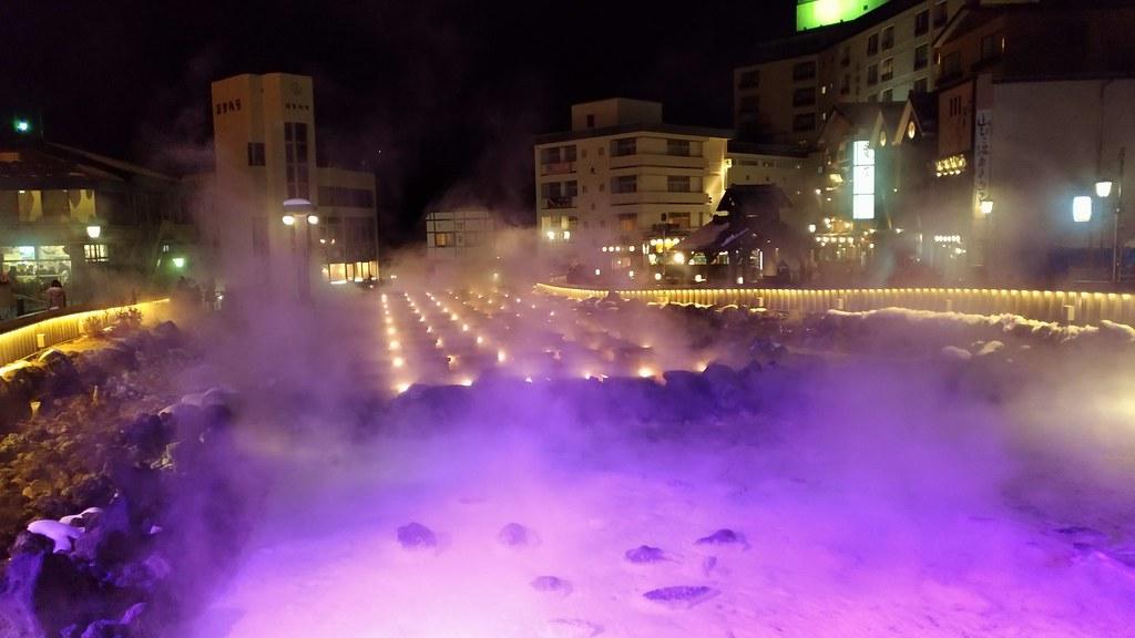 湯畑の夜景2
