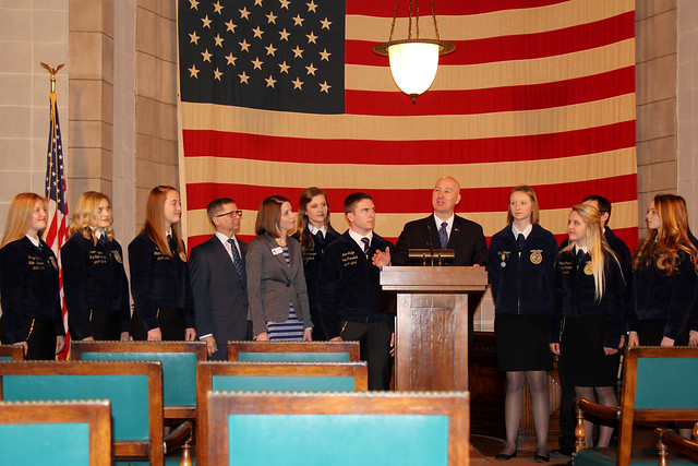 "Gov. Ricketts Proclaims ""FFA Week"" in Nebraska"