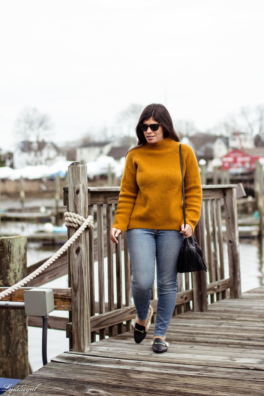 orange sweater, fringe bag, fur trimmed mules-15.jpg