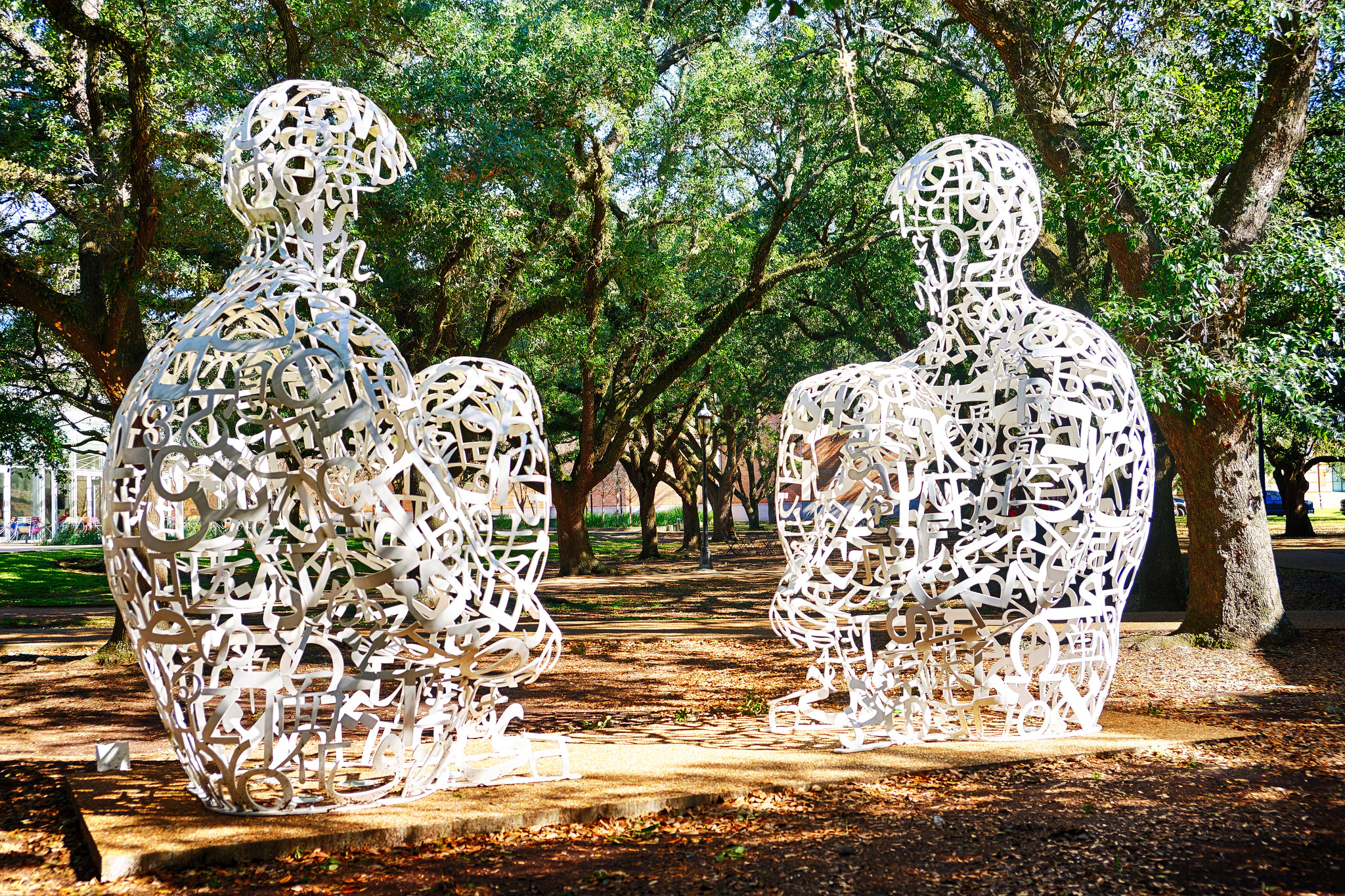 Jaume Plensa's 'Mirror' sculpture - Rice University