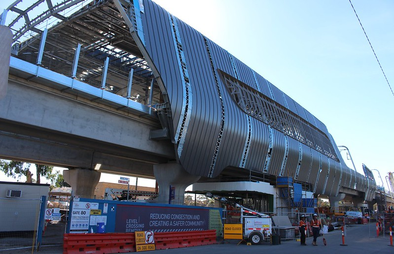 Noble Park new station under construction