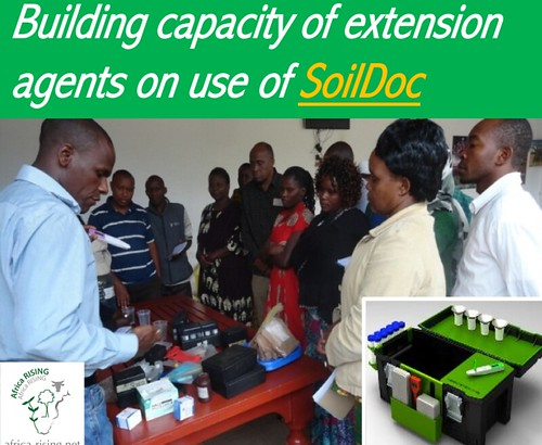 Bringing the lab to the field: Building capacity of extension on use of SoilDoc.
