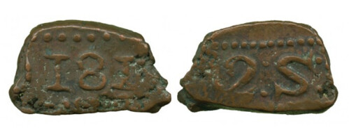 1810 Batavia Copper Bonk 2 Stuivers
