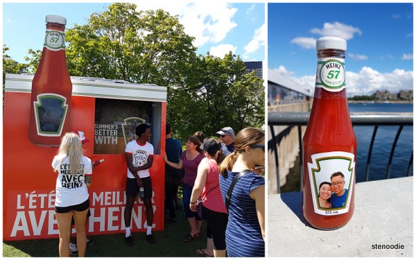 Heintz ketchup photobooth