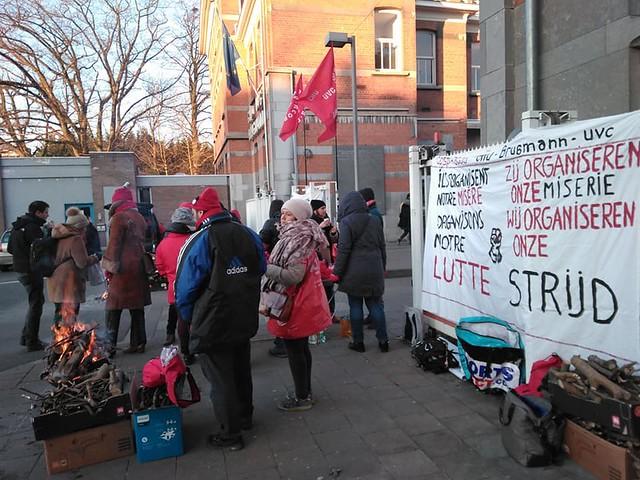 Grève CGSP: Brugmann // Nico