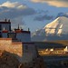 Sunset at the Sparrow monastery and Gang Ti Se, Tibet 2017 by reurinkjan