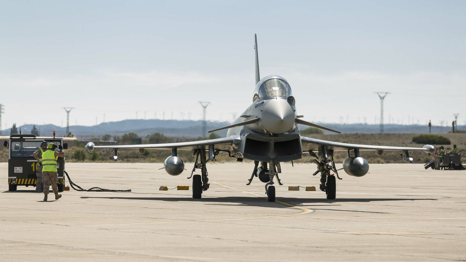 Eurofighters del Ala 11 en la Base Aérea de Zaragoza