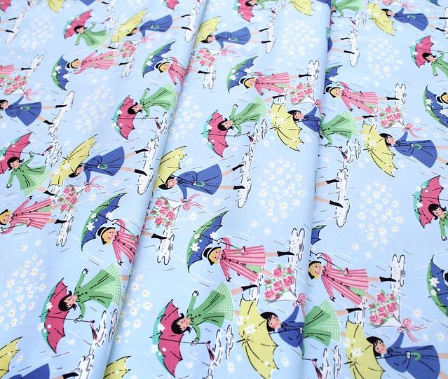 Penny Rose Fabrics Mae Flowers C6910 Blue Mae Main