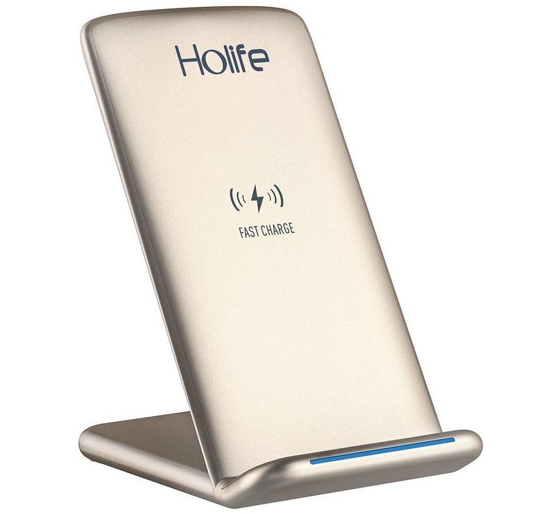 ワイヤレス充電器 qi 充電器 急速 iPhone X88 Plus 2.0 二つのコイル スタンド 置くだけ充電 温度制御 (1)