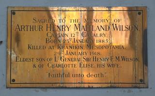 Killed at Khanikin, Mesopotamia