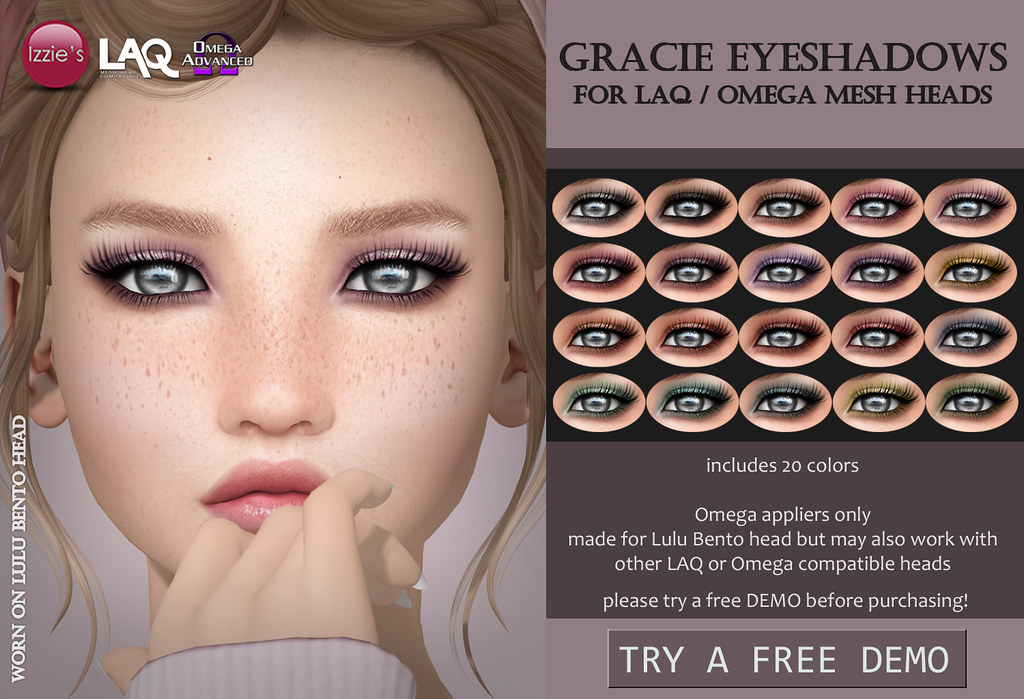 Gracie Eyeshadows LAQ/Omega (for FLF)