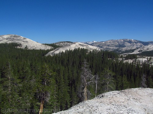 Unnamed domes to the west of Pothole dome in Yosemite National Park, California