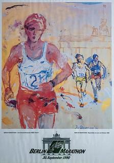 Plakat Berlin-Marathon 1990