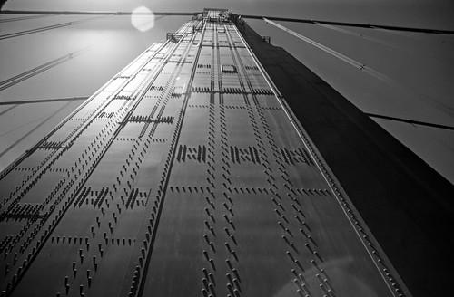 Golden Gate Bridge Tower - 1985 B&W